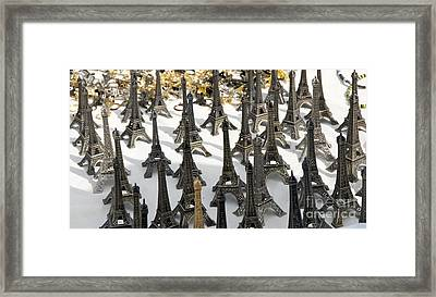 Miniature Eiffel Tower Souvenir. Paris. France Framed Print by Bernard Jaubert