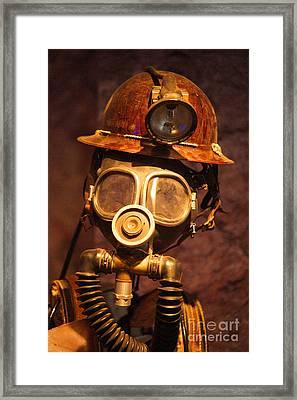 Mining Man Framed Print