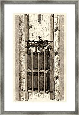Mining Safety Cage, 19th Century Framed Print by Sheila Terry