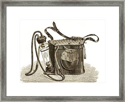 Mining Safety Lamp, 19th Century Framed Print by Sheila Terry