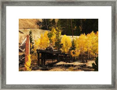 Mining Town Framed Print by Angelique Olin