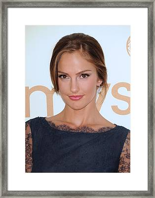 Minka Kelly At Arrivals For The 63rd Framed Print by Everett