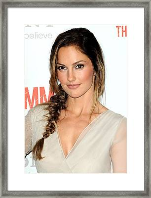 Minka Kelly At Arrivals For The Framed Print