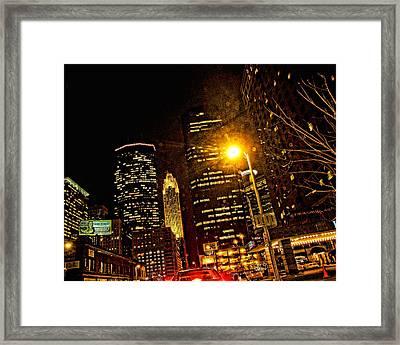 Minneapolis Night Lights Framed Print by Susan Stone
