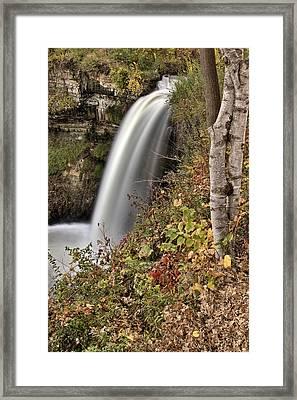 Minnehaha Waterfall Miinnesota Framed Print