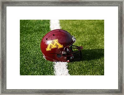 Minnesota Football Helmet Framed Print by Bill Krogmeier