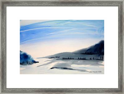 Minnesota Morning Framed Print by Jan Deswik