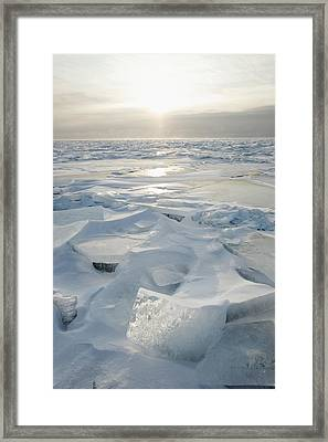 Framed Print featuring the photograph Minnesota, United States Of America Ice by Susan Dykstra