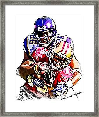 Minnesota Vikings Antoine Winfield - San Francisco 49ers Ted Ginn Jr Framed Print by Jack K