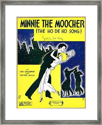 Minnie The Moocher Framed Print by Mel Thompson