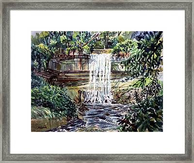Minnihaha Falls Framed Print by Mark Lunde