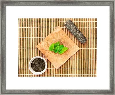 Mint Sauce Framed Print by Tom Gowanlock