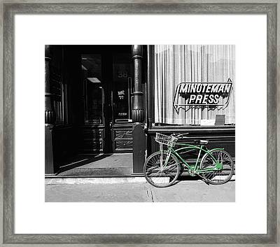 Minuteman Delivery Framed Print by Jan W Faul