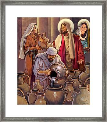 Miracle At Cana Framed Print