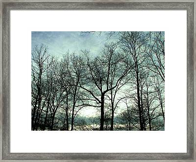 Framed Print featuring the photograph Mirage In The Clouds by Pamela Hyde Wilson
