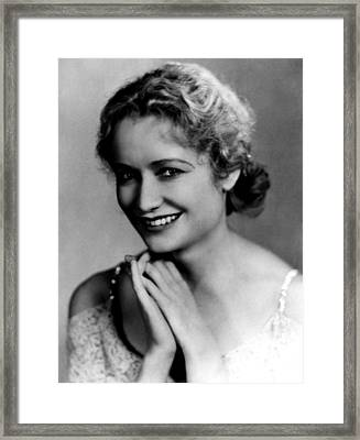 Miriam Hopkins, 1931 Framed Print