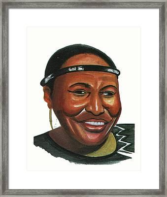 Miriam Makeba Framed Print by Emmanuel Baliyanga
