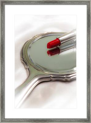 Mirror And Lipstick Framed Print