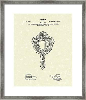 Mirror Back Design I 1907 Patent Art Framed Print by Prior Art Design