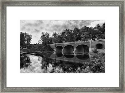 Mirror Bridge Framed Print