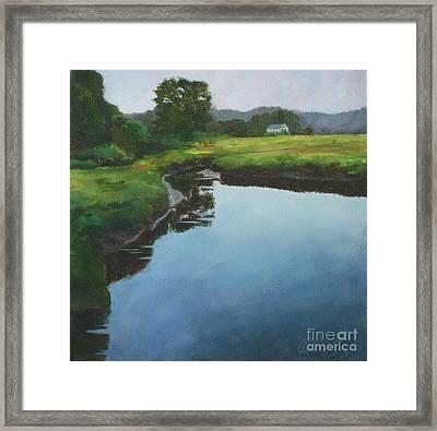 Mirror Creek In Essex Framed Print