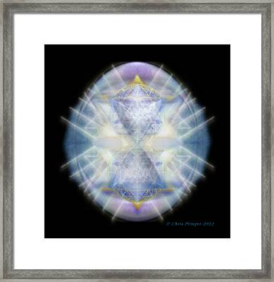 Mirror Emergence II Blue N Teal Framed Print