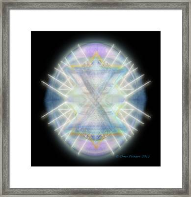 Mirror Emergence IIi Blue Green Teal Framed Print