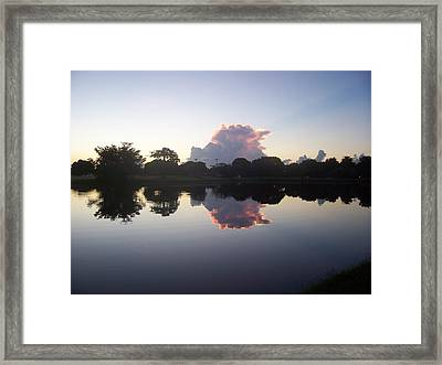 Framed Print featuring the photograph Mirror Image by Sheila Silverstein