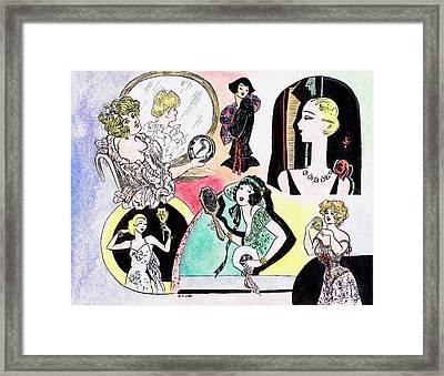 Mirror Ladies Framed Print