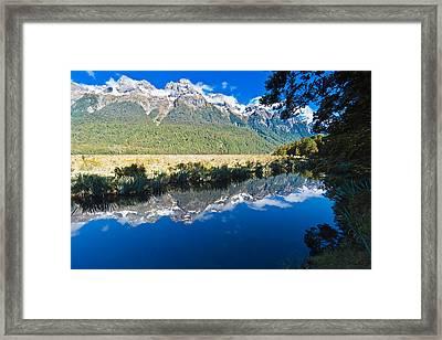 Mirror Lakes Framed Print by Graeme Knox