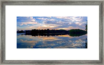 Mirror Mirror On The Water Framed Print by Sue Stefanowicz