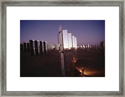 Mirror-winged Solar Panels Convert Framed Print by James A. Sugar