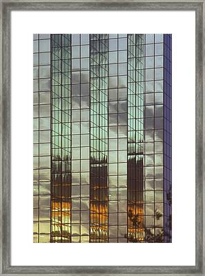Mirrored Building Framed Print by Mark Greenberg