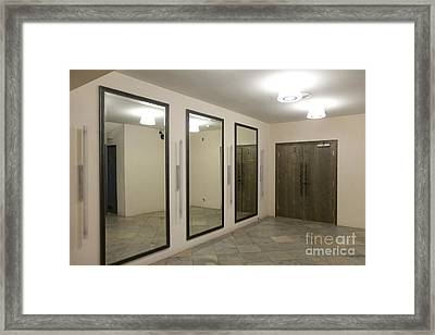 Mirrored Room In A Traditional Music Center Framed Print by Jaak Nilson