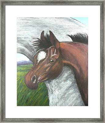 Framed Print featuring the painting Mischief by Drusilla Montemayor