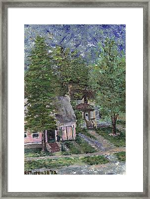Framed Print featuring the painting Misfit Summerhome by Denny Morreale