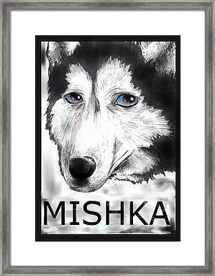 Mishka Fan Poster Framed Print by Warren Lindsey