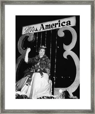 Miss America. Miss America 1964 Donna Framed Print by Everett