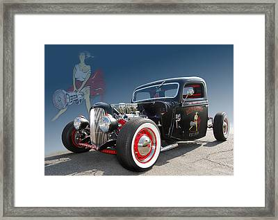 Miss Camshaft Framed Print by Bill Dutting