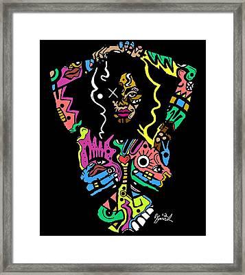Miss Jackson  Framed Print by Kamoni Khem