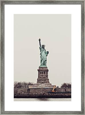 Miss Liberty Framed Print