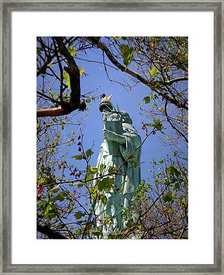 Framed Print featuring the photograph Miss Liberty by Paul Mashburn