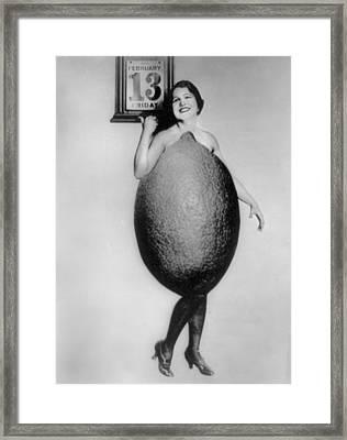Miss Rose Cade, Queen Of The Lemons Framed Print