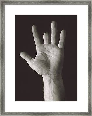 Missing Middle Finger Framed Print by Alan Sirulnikoff