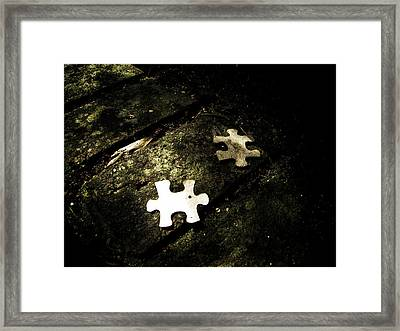 Missing Pieces Framed Print by Jessica Brawley