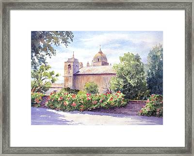 Mission At Carmel Framed Print by Vikki Bouffard