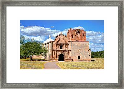 Mission At Tumacacori Framed Print by Donna Greene