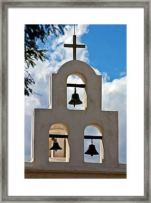 Mission Bells At San Xavier Mission Framed Print by Jon Berghoff