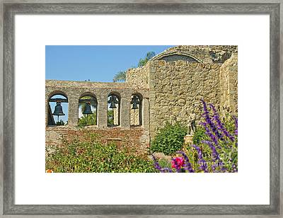 Mission Bells Campanario Framed Print by Diana Cox