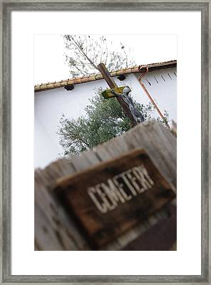 Mission Cemetery Framed Print